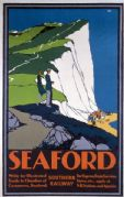 Seaford, Sussex. Vintage Southern Railway Travel Poster by Leslie Carr